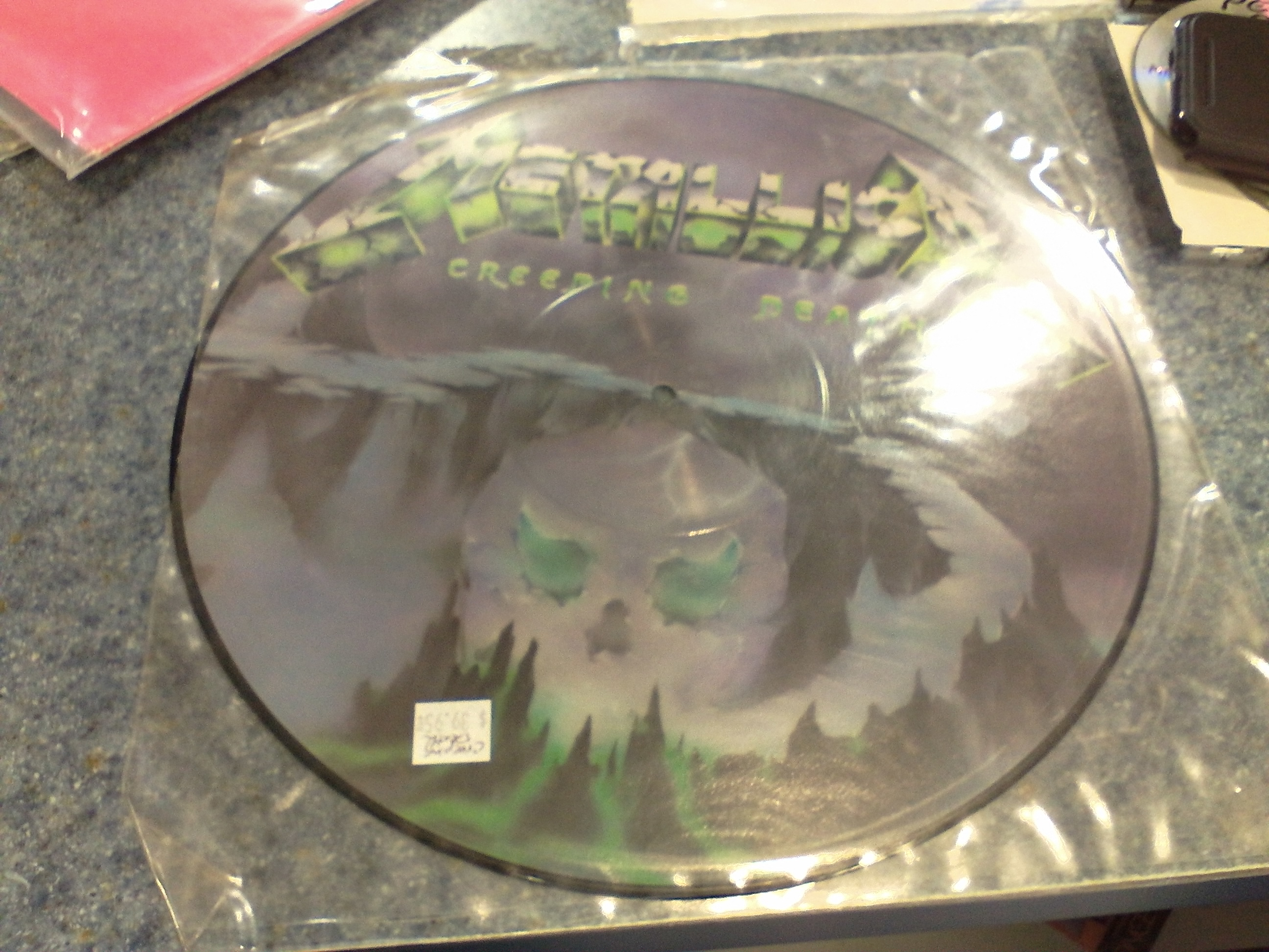 METALLICA CREEPING DEATH NM PICTURE DISK